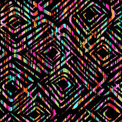 color tribal seamless background