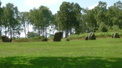 Nine Ladies Stone Circle, on Stanton Moor, Derbyshire, England
