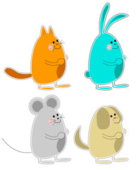 Four funny animals