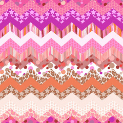 pink zigzag vector ~ seamless background