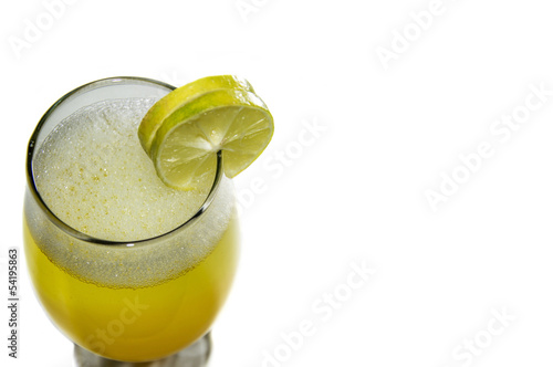 Margarita Drink with Two Slices of Lime