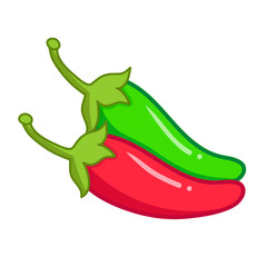 Pepper isolated illustration
