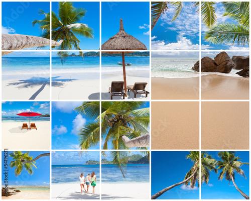 assemblage de photos des Seychelles