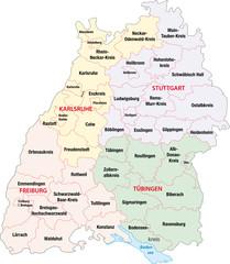 Baden Württemberg, Regierungsbezirke, Landkreise
