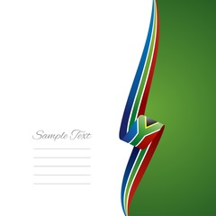 South African right side brochure cover vector