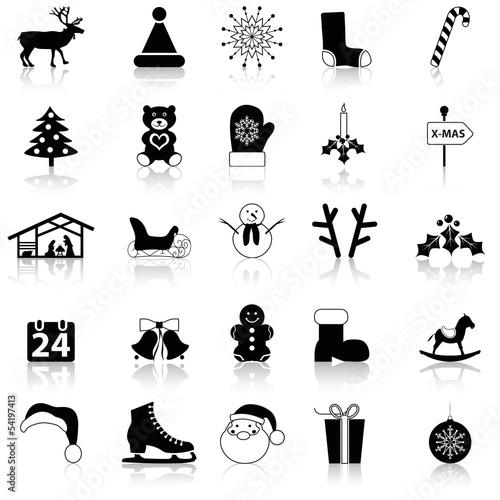 leinwandbild 25 weihnachtssymbole wandbilder leinwandbilder. Black Bedroom Furniture Sets. Home Design Ideas