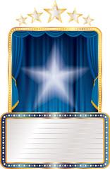 blue stage white star