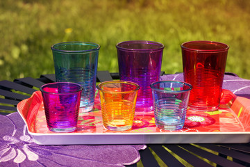 Disposable colorful glasses