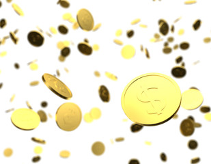 Gold Coins 3D raining