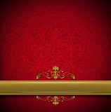 Luxury Floral Red and Gold Velvet Background