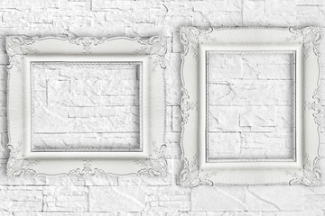Two white frame