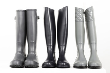 still life of rubber boots