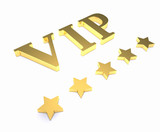 Golden sign VIP