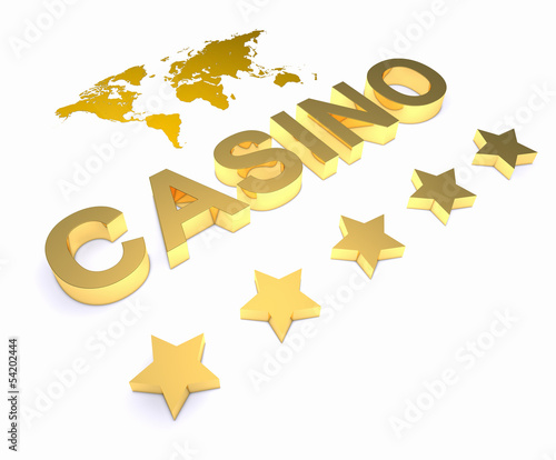 Golden word CASINO