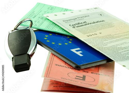 papiers réglementaires de véhicule automobile
