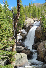 Alberta falls, Rocky Mountain National Park, CO, USA