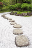 Zen stone path in a Japanese Garden - 54205493