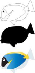 Illustration of fish 2 - vector