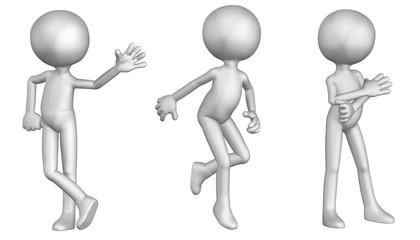 Anonymes Männchen in verschiedenen Posen