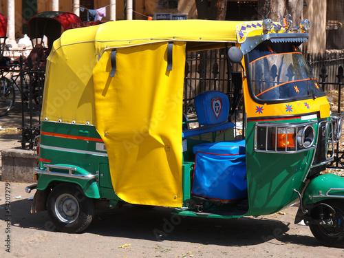 Spoed canvasdoek 2cm dik Delhi rickshaw