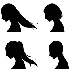 set of women' haircut design
