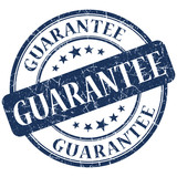 guarantee grunge round blue stamp