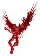 Roter Dämon im Landeanflug