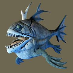 Raubfisch mit scharfen Zähnen