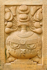 Old marble bas-relief religious