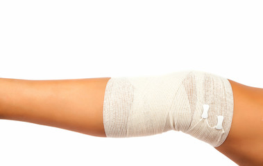 leg bandage isolated