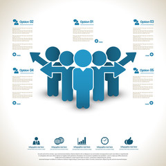 Business management ,strategy and human resource infographics