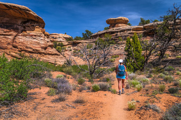 Female Hiker in Needles