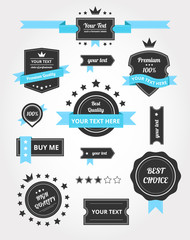 Premium Vector Set of Vintage Retro Labels
