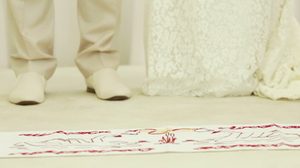 Wedding embroidered towel