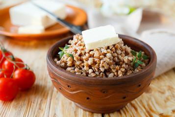 Buckwheat porridge with butter - healthy eating