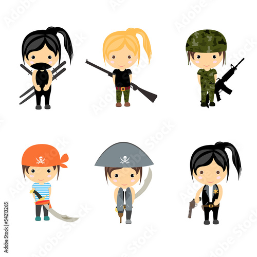 Woman Character set - Vector