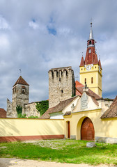 The fortified church of Cristian, Brasov district, Romania.