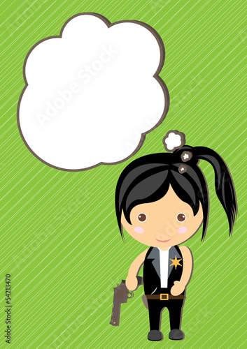 Dream Prefect girl cartoon vector