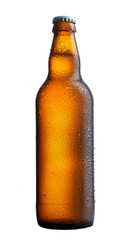 perfect beer bottle on white background