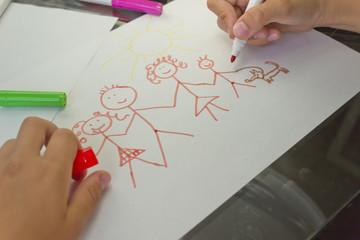 семья на рисунке