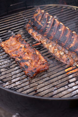 Barbecue pork and beef ribs