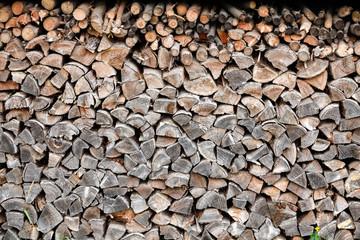 Holzstapel / Wooden Background