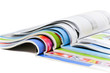 canvas print picture - Color magazines isolated on the white background