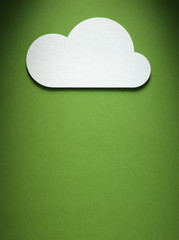 cloud on the paper background