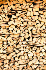Holzstapel / Wooden Background