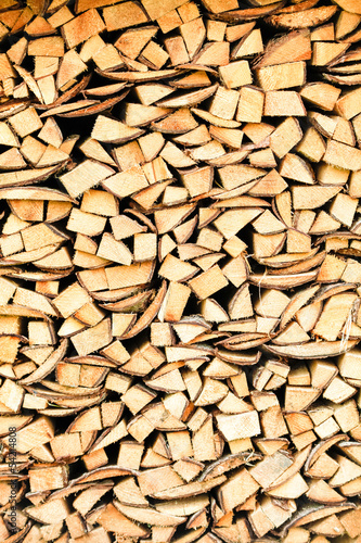 canvas print picture Holzstapel / Wooden Background