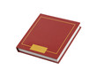Simple red square book isolated
