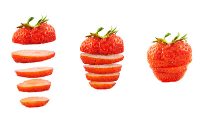 Strawberry sliced into pieces