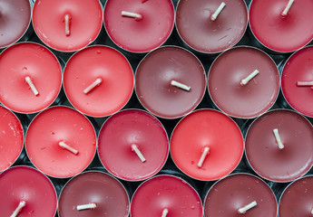 tea light candles background