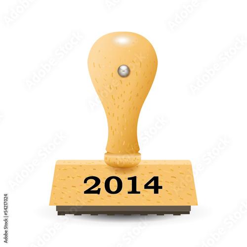 """Stempel """"2014"""""""